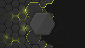 Abstract background or pc desktop wallpaper with hexagonal structure and backlighting. Abstract background or pc desktop wallpaper. Vector illustration with Stock Illustration