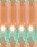 Abstract background, peach and turquoise with glowing lights and unique pattern. Abstract background, peach and turquoise with reflective floor, glowing lights Stock Photography