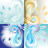 Abstract background with a pearl. Vector illustration Stock Images