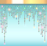 abstract background with pendants with stones  Stock Photo