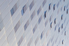 Abstract background. Perspective view. Office building facade. Royalty Free Stock Photo