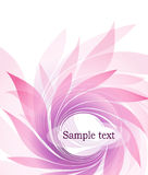 Abstract background with petal Royalty Free Stock Image