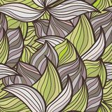 Abstract background of petal and wave. Abstract background of petals and waves. Plant elements. Full color seamless pattern. Use as a fill pattern, backdrop Stock Images