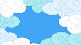 Abstract background Picture with fluffy abstract and clouds, material design Royalty Free Stock Photos