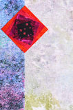 Abstract background from pieces of quilting fabrics Royalty Free Stock Photo