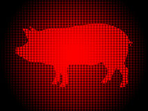 Abstract background with pig in front. Vector illustration Stock Photography