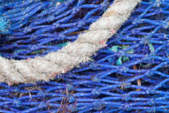 Abstract background with a pile of fishing nets Stock Images