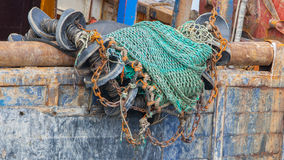 Abstract background with a pile of fishing nets Royalty Free Stock Images