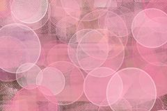 Abstract background of pink circles. With scratches and marks texture. feminine motif of purity Royalty Free Stock Images
