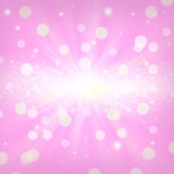 Abstract background pink color. Abstract background with bokeh circle and sparkling effect stock illustration
