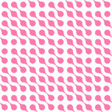 Abstract background of pink connected dots in diagonal arrangement on white background. Molecule theme wallpaper. Seamless pattern vector illustration royalty free illustration
