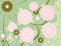 Abstract background pink flowers Royalty Free Stock Photography
