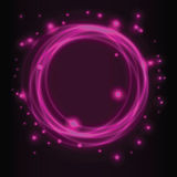 Abstract background, pink glowing circles. Vector illustration royalty free illustration
