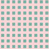 Abstract Background Pink with Green Square and circle geometric textures seamless  Illustration Royalty Free Stock Images
