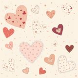 Abstract background of pink hearts Royalty Free Stock Photo