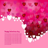 Abstract Background pink with hearts. For a Valentine card Vector Illustration