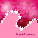Abstract Background pink with hearts Stock Photo