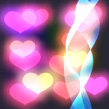 Abstract Background with pink hearts Vector Stock Photo