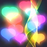 Abstract Background with pink hearts Vector Stock Image
