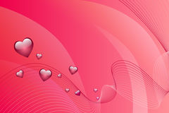 Abstract background pink hearts vector Royalty Free Stock Photos