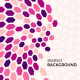 Abstract background with pink hexagons elements. Stock Image