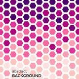 Abstract background with pink hexagons elements. Vector illustration vector illustration