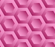 Abstract background pink hexagons. Honeycomb. Vector, seamless repeating pattern, mosaic Royalty Free Stock Photo