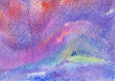 Abstract watercolor background of lilac marble with scratches royalty free stock photography