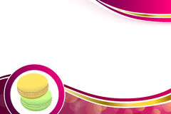 Abstract background pink macaroon yellow purple green circle frame illustration Royalty Free Stock Images