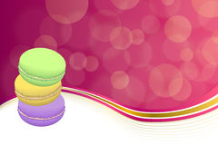 Abstract background pink macaroon yellow violet purple green frame illustration Royalty Free Stock Photos
