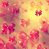 Abstract background with pink ribbons Stock Image