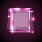 Abstract background with pink squares banner Royalty Free Stock Photo