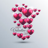 Abstract background with a pink valentine hearts Stock Image