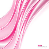 Abstract background. Pink waves on white background for presentation, website, flyers, brochures. Stock Photo