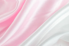 Abstract background - Pink and white satin textile Stock Photography