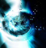 Abstract background planet Stock Image