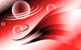 Abstract background with planets Stock Image