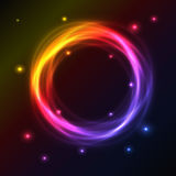 Abstract background with plasma effect. Abstract background with colorful plasma circle effect stock illustration