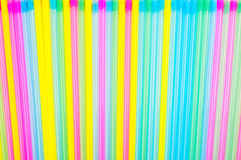 Abstract background of plastic cocktail tubules. Royalty Free Stock Image
