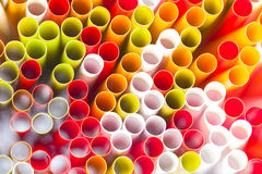 Abstract background from plastic straws Royalty Free Stock Photography