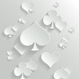 Abstract background with playing cards elements Royalty Free Stock Images