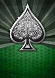 Abstract background with poker spade. Green textured - abstract background with poker spade Stock Photos
