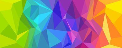 Abstract background polygon colorful. stock image