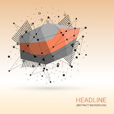 Abstract Background With Polygonal Elements. Stock Photos