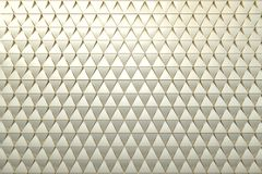 Abstract background of polygonal shape. Abstract 3D minimalistic geometrical background of golden triangles Royalty Free Stock Image