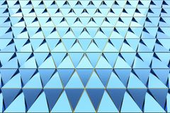 Abstract background of polygonal shape. Abstract shape 3D holographic background of triangles Royalty Free Stock Images