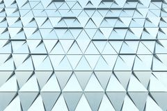 Abstract background of polygonal shape. Abstract 3D minimalistic geometrical background of triangles Royalty Free Stock Photography