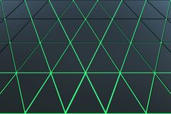 Abstract background of polygonal shape. Abstract 3D minimalistic geometrical background of triangles Stock Photos