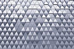 Abstract background of polygonal shape. Monochrome abstract 3D minimalistic geometrical background of triangles Royalty Free Stock Image