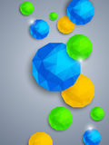 Abstract background. With polygonal spheres Stock Image